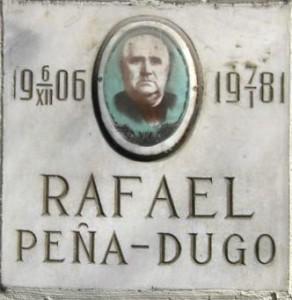 """Lápida de Rafael Peña Dugo. Cortesía de Manuel Romero Bolancé""."