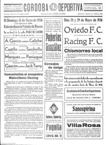 Córdoba deportiva 27/05//1936