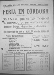 Trenes especiales para la feria de Córdoba