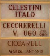 Lápida en el Sacrario Militare Italiano de Zaragoza