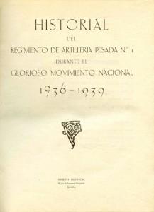 Historial del Regimiento de Artillería Pesada nº 1